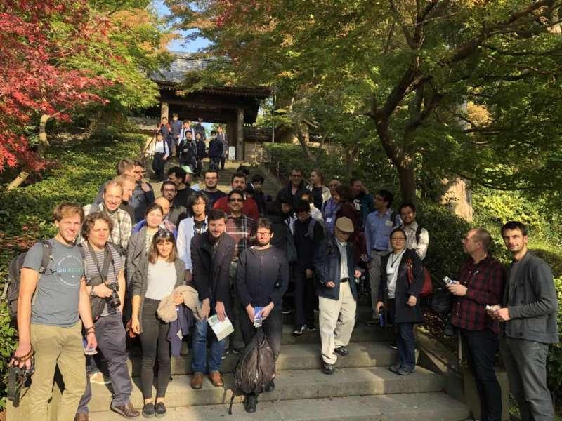 In front of Sanmon Gate in Engaru-ji Temple
