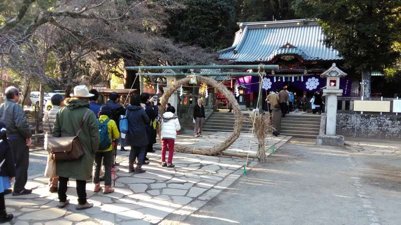 Izusan Shrine on the new year's day
