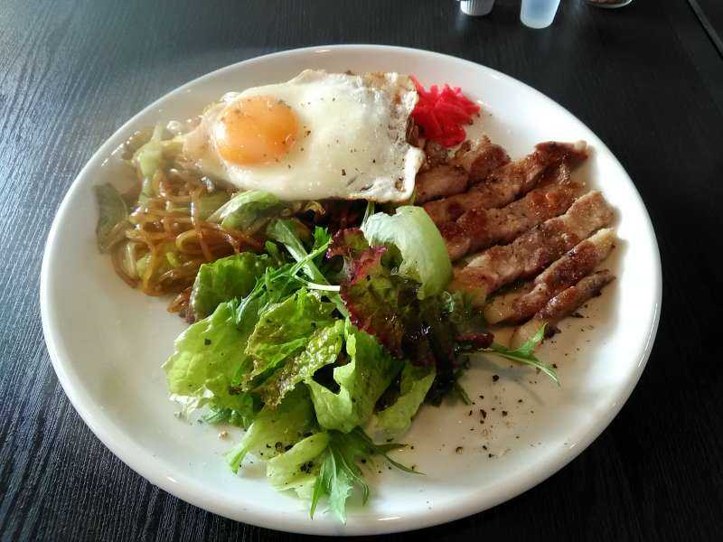 Fujinomiya is known for delicious fried noodles and pork!  Yum!