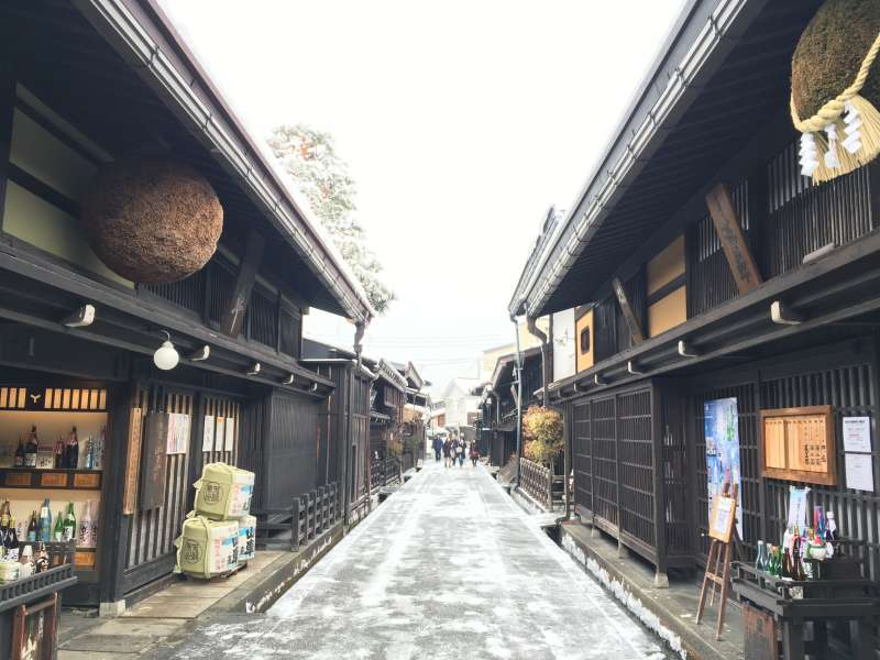 You will visit sake breweries in the old town.
