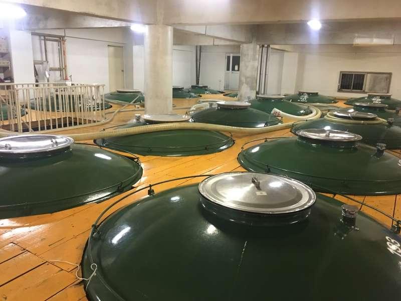 Sake brewing process.