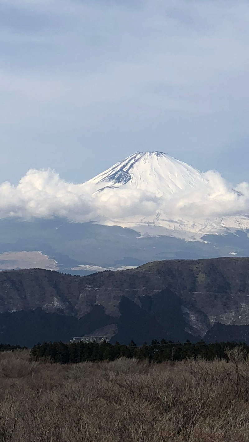 富士山的山頂覆蓋著白雪