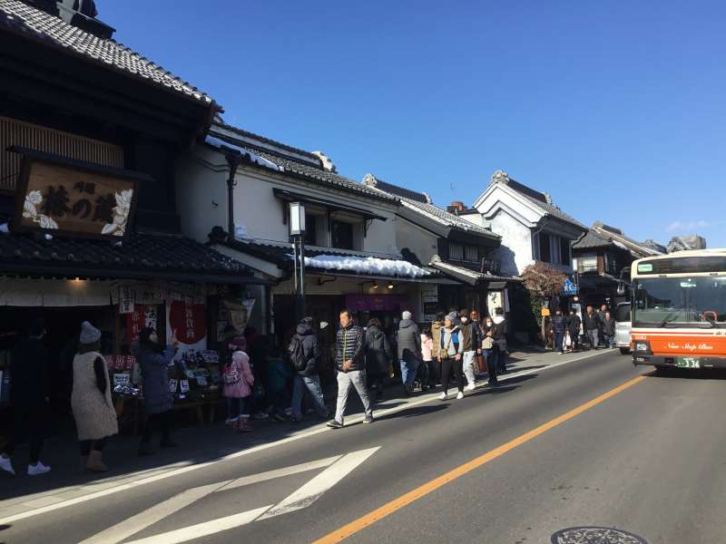 Kura store houses street which shows the atmosphere of Edo Era (1603 ~ 1868).