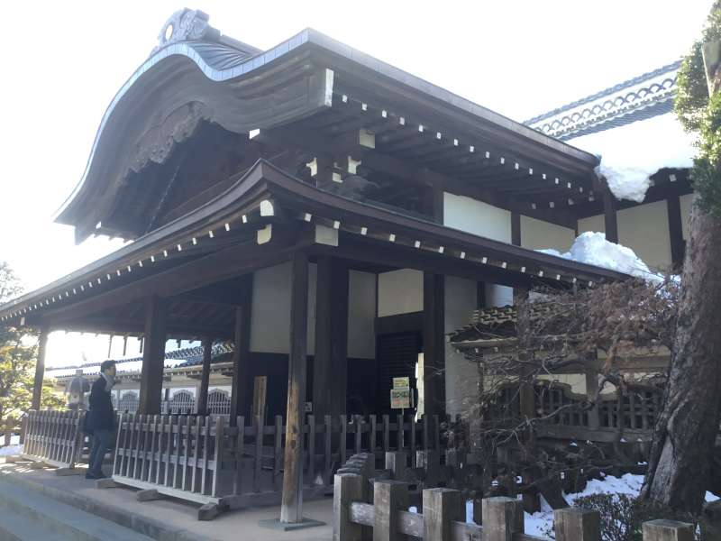 Honmaru palace of Kawagoe castle was built in 1848 by the feudal load.