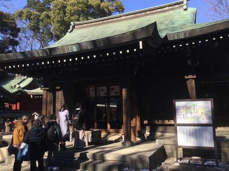 Hikawa-shrine which is the local Shinto deity of Kawagoe.