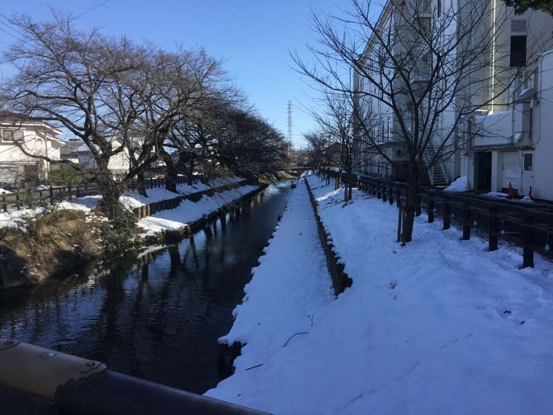 Shingashigawa river used to be a main artery as flow of goods between Edo and Kawagoe