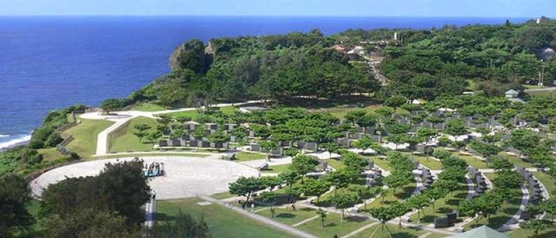 Okinawa prefecture peace memorial museum and the cornerstone of peace