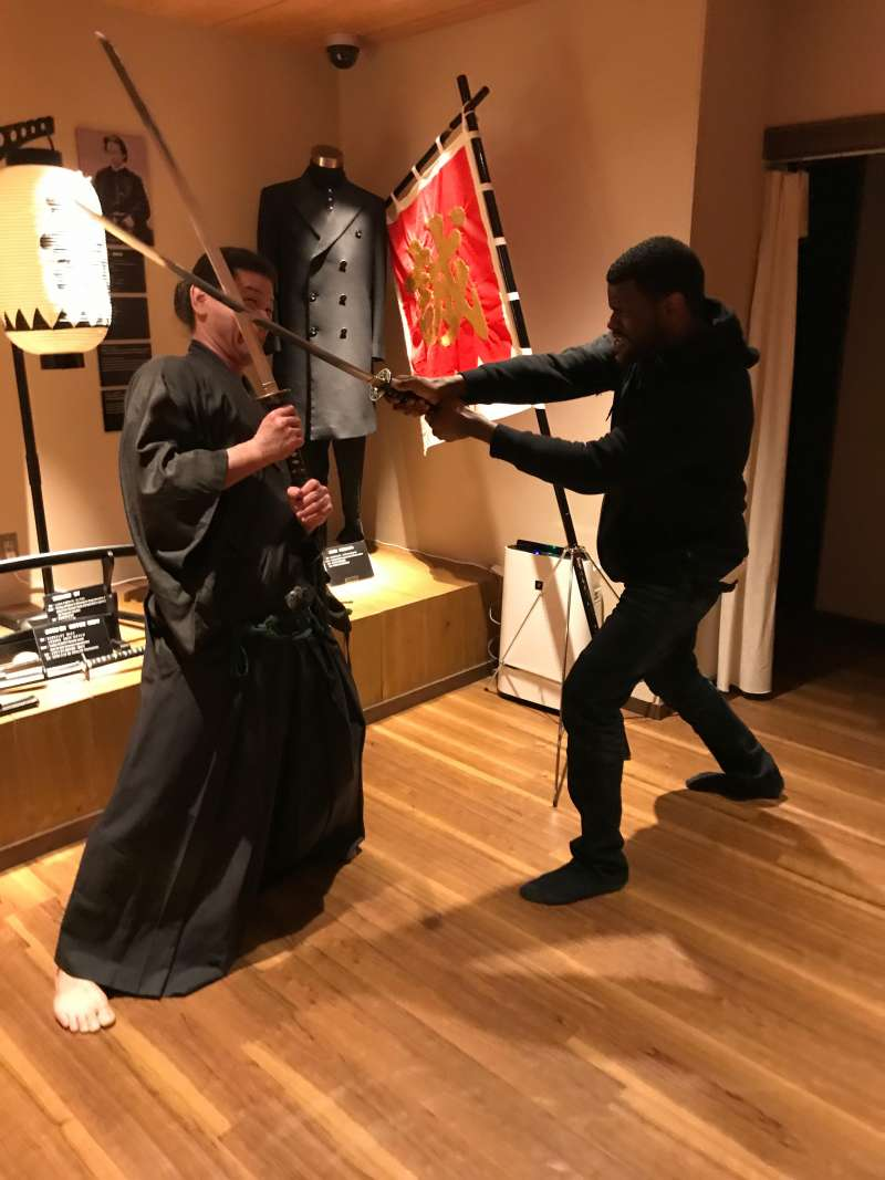 Why don't you try to beat  a samurai at Samurai museum? (#9)