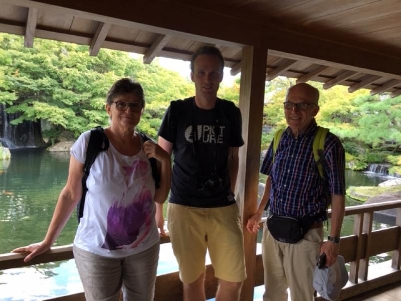 Gentle family at Kokoen Japanese Style Garden