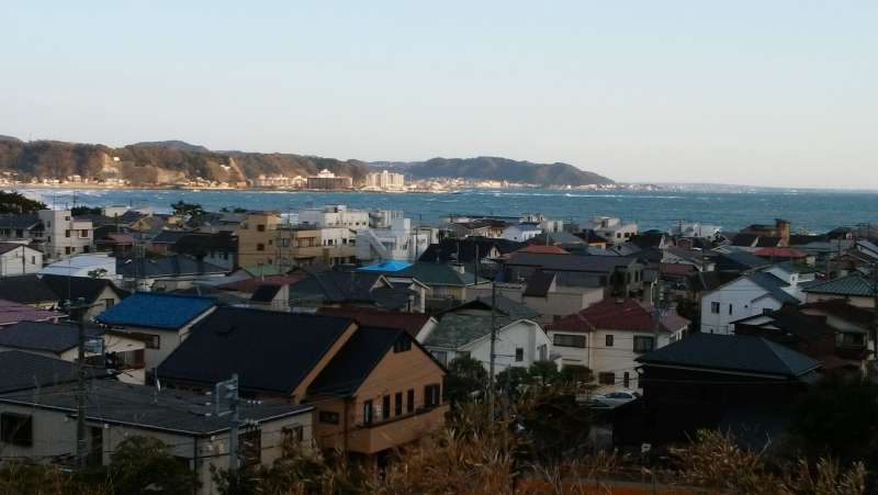 From the top of Hase-Dera temple, you can see seas of Kamakura.