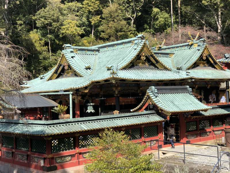Kunozan Toshogu Shrine! Kunozan Toshogu Shrine is the first one to enshrined Tokugawa Ieyasu. You can enjoy watching the origin of an architectural style of