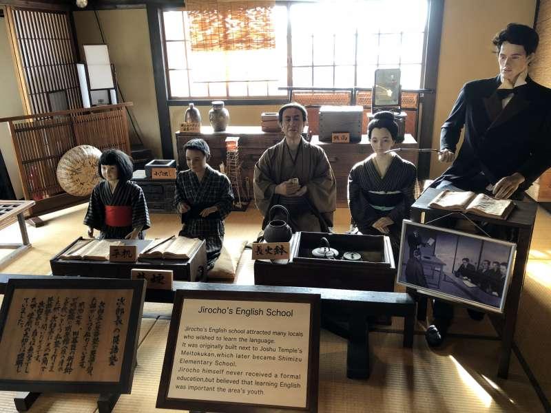 Display on 2nd floor in Shimazu Port Seamen's Inn Museum