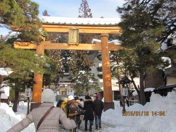 Torii in Hachimangu Shrine
