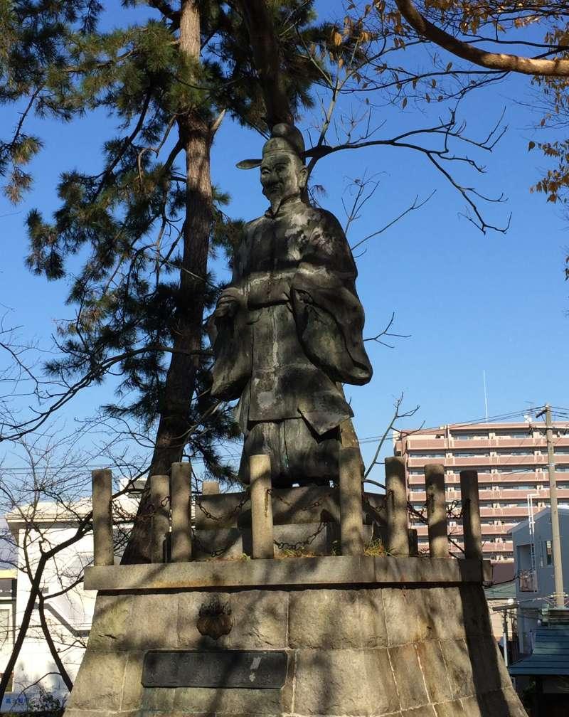 The Statue of Hideyoshi at Hoko-en Park