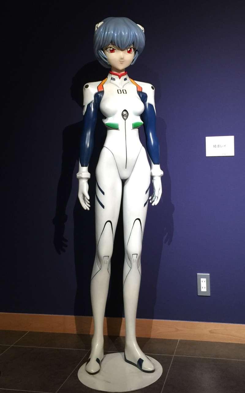 An Imaginary Heroine of Japanese Anime, Rei AYAHA (綾羽レイ), a Pilot of EVA-0 At Kaiyodo Figure Museum Kurokabe