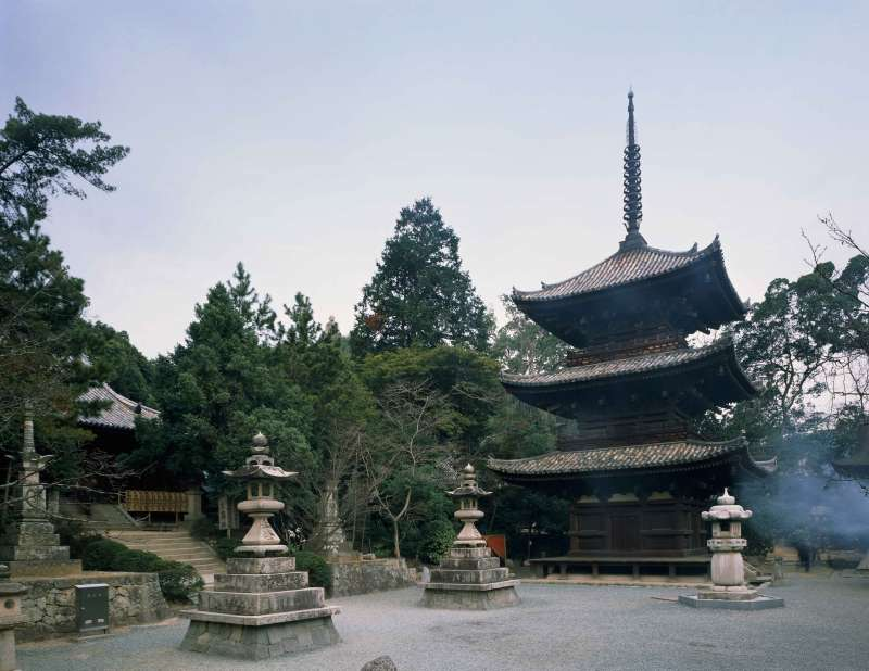 Ishiteji Temple is Matsuyama's most famous temple, on its spacious grounds stand several temple buildings, a three-storied pagoda and a temple gate that is a designated national treasure.