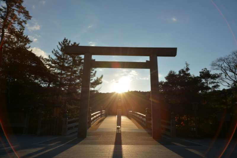 The Inner Shrine is one of the two main shrines making up the Ise Shrines in Ise City.