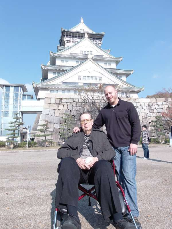 The main Tower with some exhibits in the feudal periods at Osaka Castle.