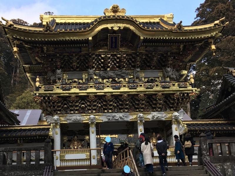 The symbol of Toshogu shrine, Yomeimon gate with gorgeous decoration