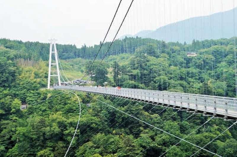 kokonoe Yume Otsurihashi (highest suspension bridge)