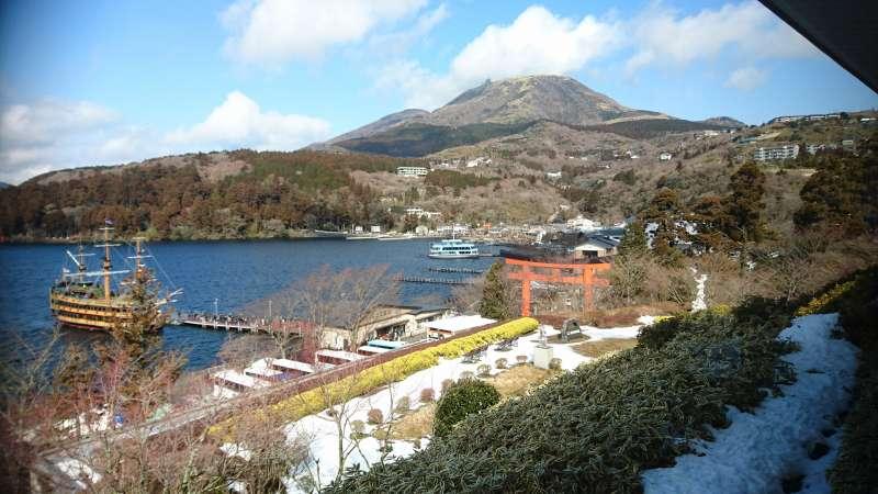 Mt. Komagatake, Pirate Boat and Shrine Trii Gate