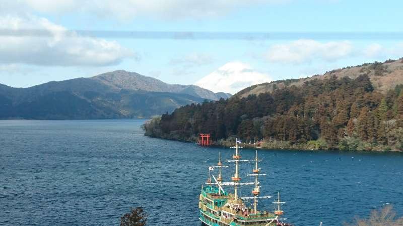 Lake Ashi, Mt. Fuji, Shrine gate