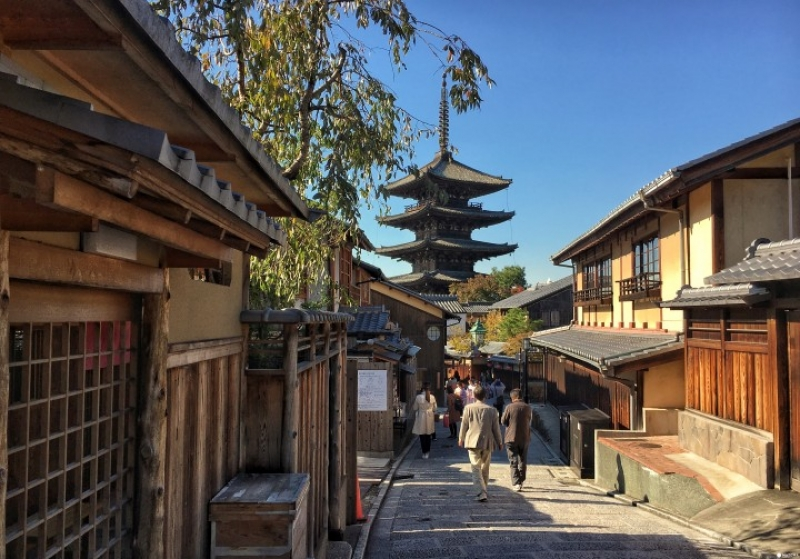 Yasaka Pagoda, oldest in Kyoto, alley to Kiyomizudera Temple