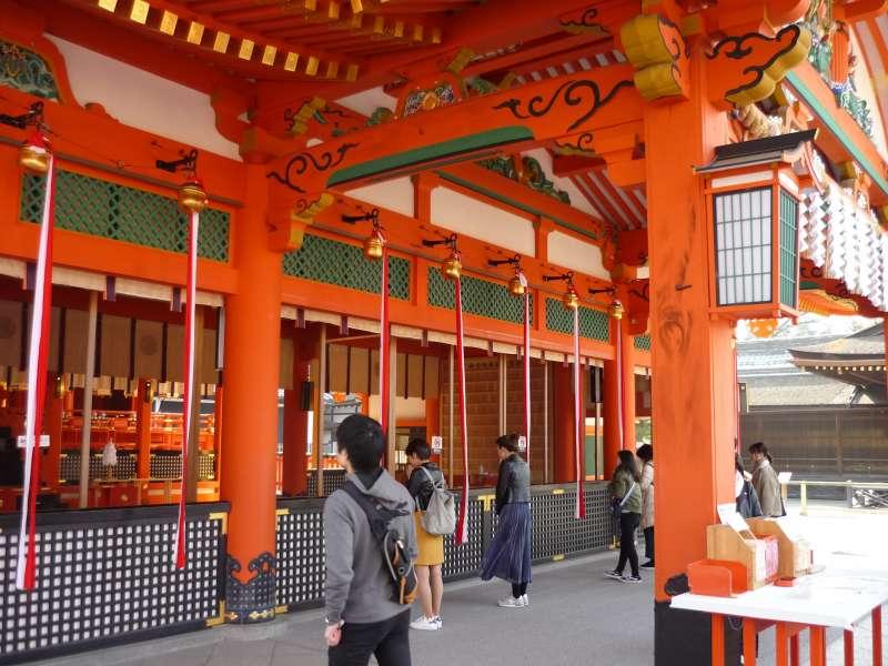 Main hall o Fushimi Inari Shrine.