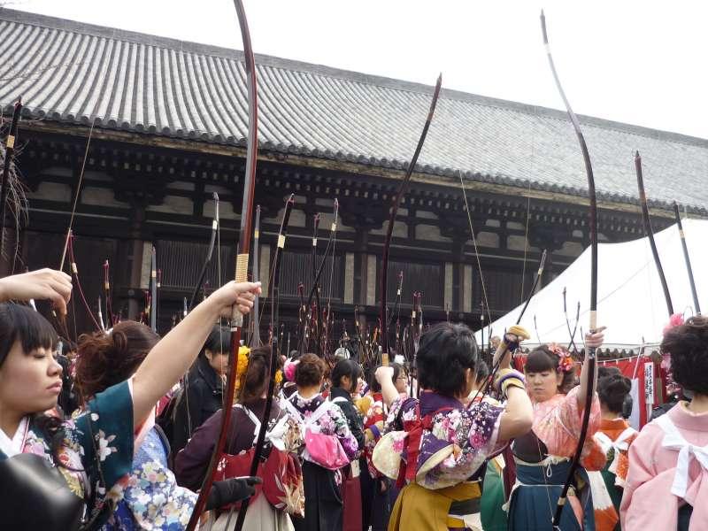 Toshiya Event at Sanjusangen-do temple