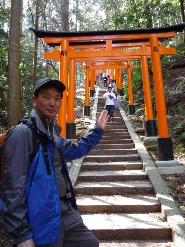 Worshiper's Path to the Top of Mt.Inari