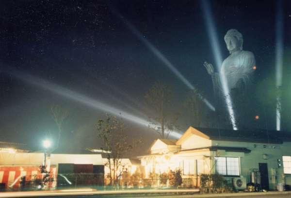 Ushiku Daibutsu at night.  Beautifu, isn't it?