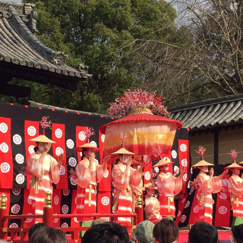 Spring Festival in northern part of Kyoto.