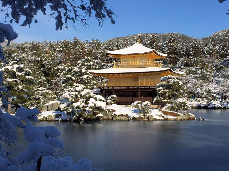 The golden Pavilion in winter.