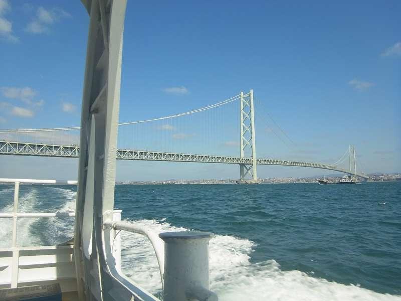 Akashi Kaikyo Bridge from the ferry boat