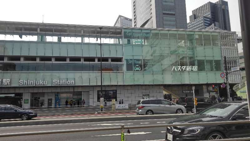 This is BASUTA, at the other side of the Shinjuku Station South Exit.