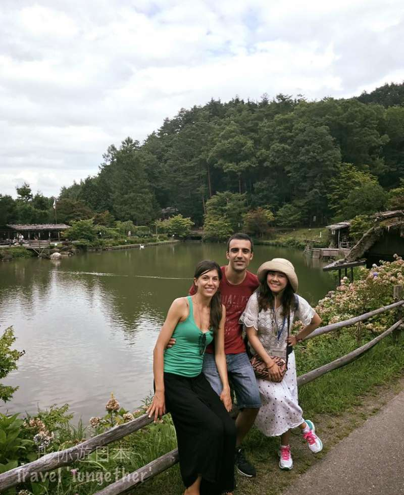 Visiting Hida Folk village with guests from Italy