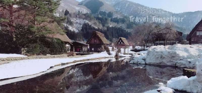 Stunning scenery showing the reflection of the traditional houses