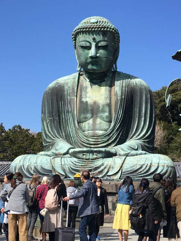 Kamakura's landmark, the Great Buddha Statue of Kotoku-in temple
