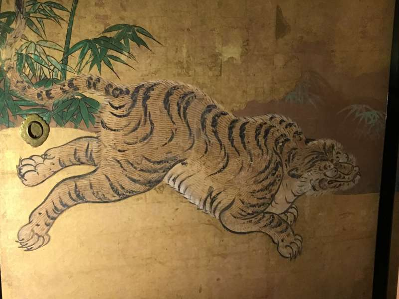 An original painting of a tiger, about 400 years ago