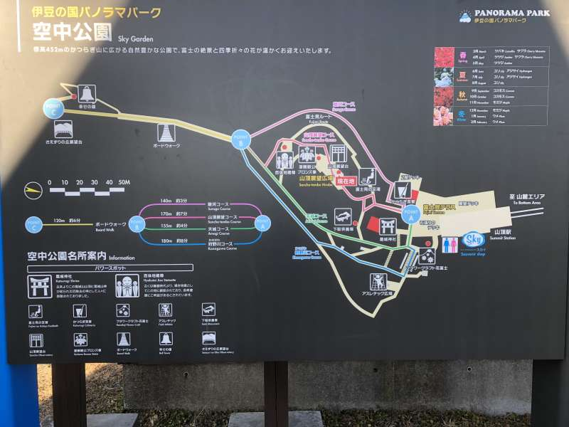 The map of Sky Garden; there are many attractions to enjoy yourself besides its magnificent view.