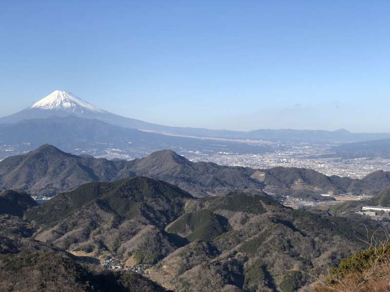The magnificent view of Mt. Fuji at Sky Garden!