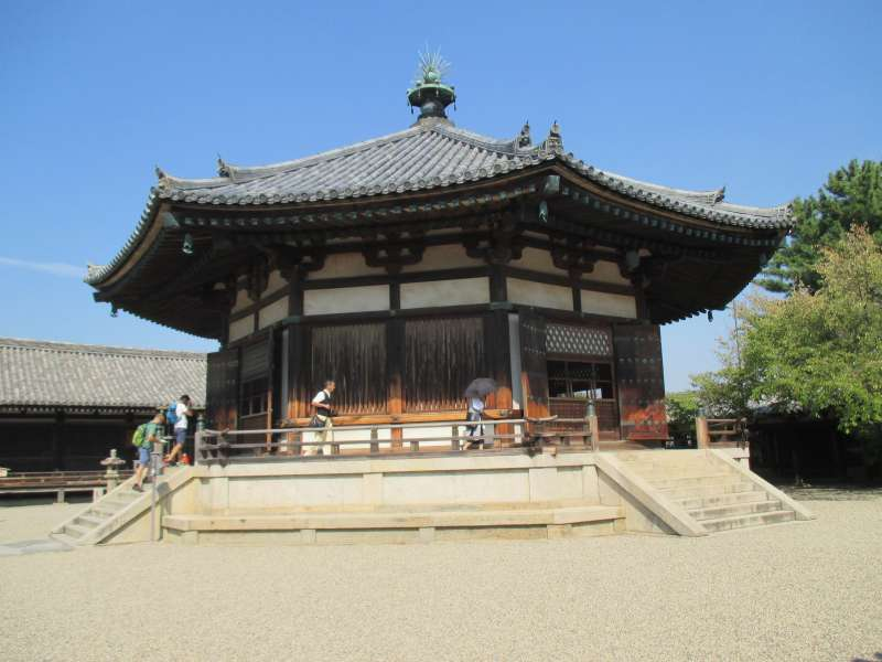 Yumedono, or Vision Hall of Hohryu-ji Temple