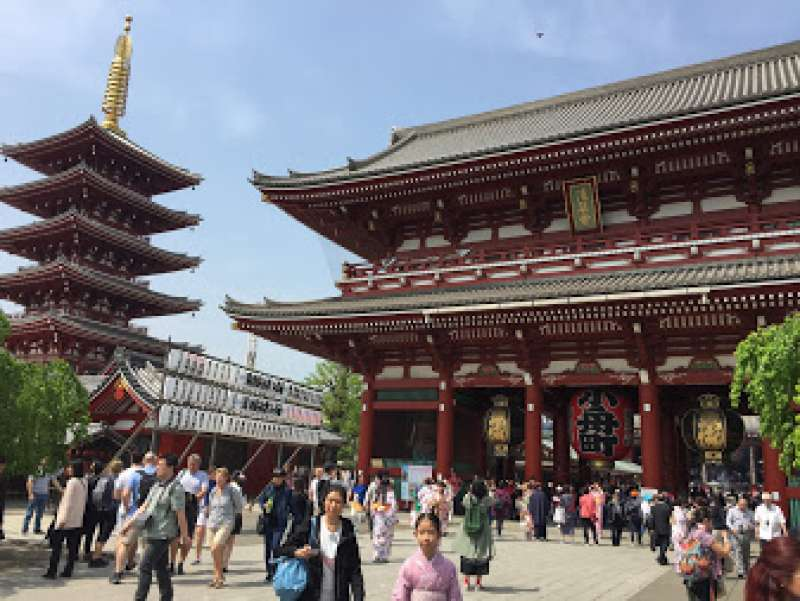 Sensoji-Temple and Five storied Pagoda