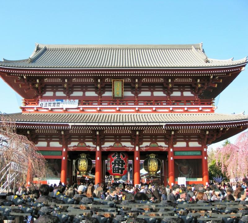 Asakusa: Sensoji Temple.  Hozomon gate