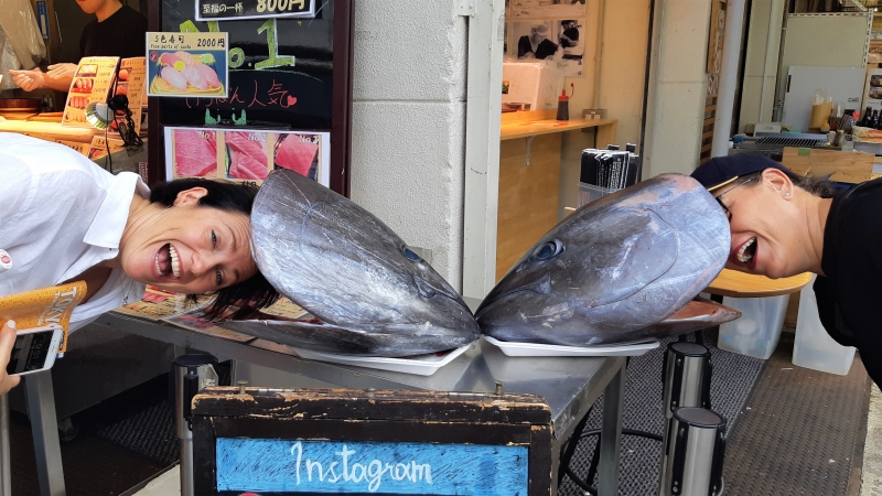 The tuna's heads are bigger than ours!