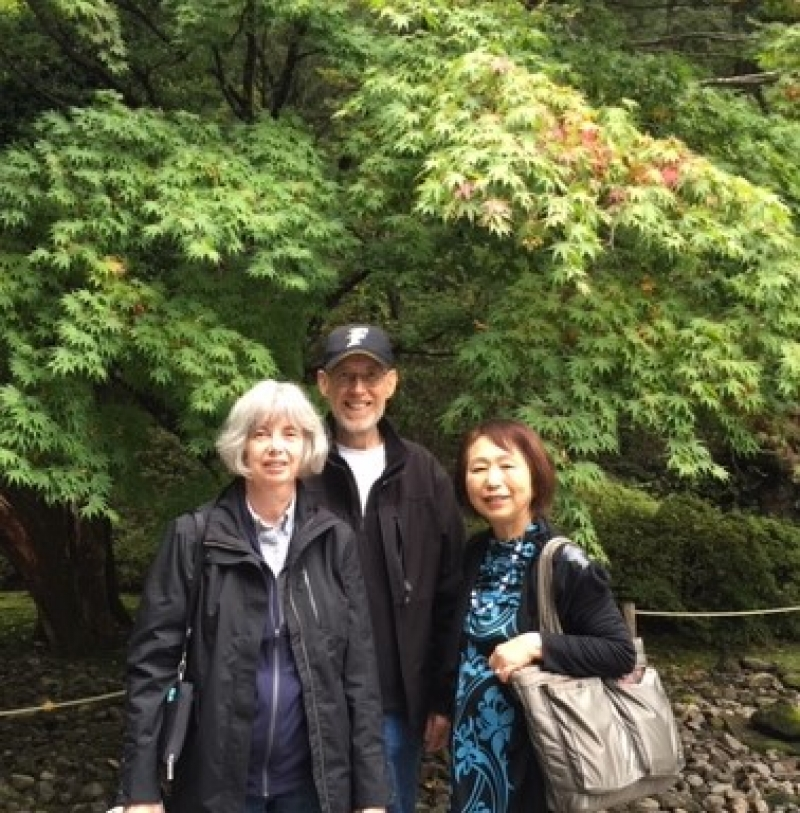 A sweet couple from U.S.A., at Taiyu-in, Nikko, Oct. 2018