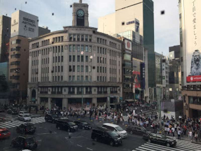 Ginza: most busiest crossing