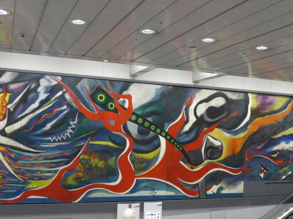 Public wall painting in Shibuya.