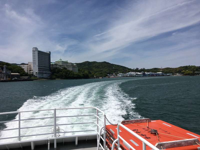 Cruise in Ria type coastline