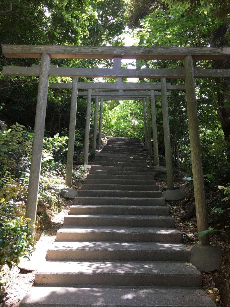 Trii Gate at Hichiman Shrine